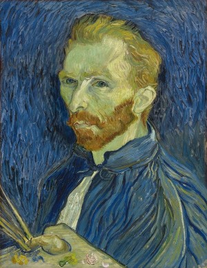 I saw this self-portrait of Vincent in 2011 at the Museum of Fine Arts, Houston on loan from the National Gallery of Art in Washington D.C. He produced this painting in August 1889, after voluntarily committing himself in May 1889 to the mental asylum in Saint-Remy. Six months earlier he cut off his ear after a quarrel with Paul Gauguin. And less than a year later Van Gogh would be dead of a gunshot wound.
