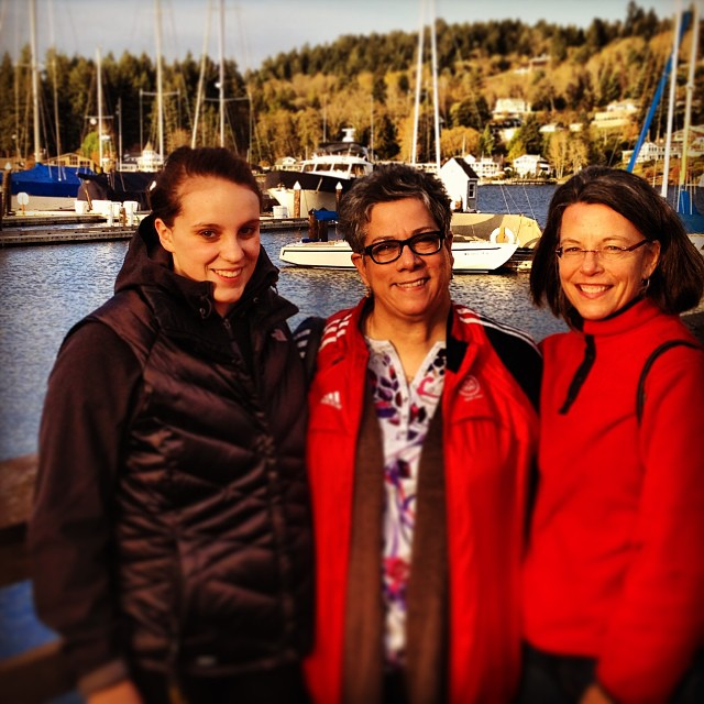 Carli, Rose and Sally Troup in the very picturesque Gig Harbor, Wash.